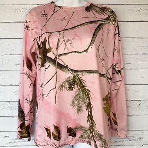 Realtree Pink Camo Long Sleeve Base Layer Top